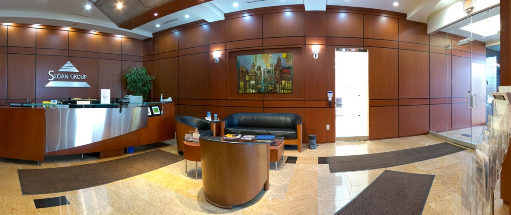 Our North York Office Space Reception Area